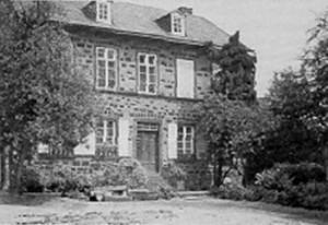 Grebers Pfarrhaus in Kell, Juni 1960